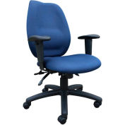 High Back Task Chair with Seat Slider - Blue