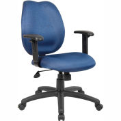 Task Chair with Adjusted Arms - Blue
