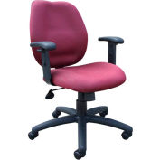 Task Chair with Adjusted Arms - Burgundy