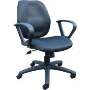Task Chair with Loop Arms - Black
