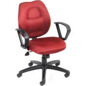 Task Chair with Loop Arms - Burgundy