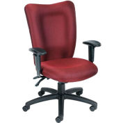 Task Chair with 3 Paddles Mechanism - Burgundy