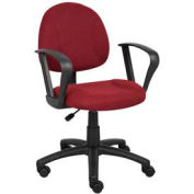 Deluxe Posture Chair with Loop Arms Burgundy