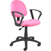 Pink Microfiber Deluxe Posture Chair with Loop Arms