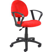 Red Microfiber Deluxe Posture Chair with Loop Arms