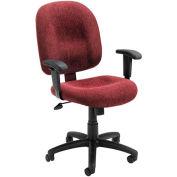 Mid-Back Ergonomic Task Chair - Wine