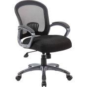 Boss Ergonomic Mesh Task Chair, Mid-Back, Black