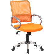 Boss Mesh Back Office Chair with Arms - Fabric - Mid Back - Orange