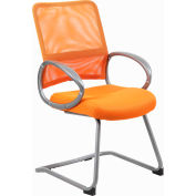 Boss Mesh Back Guest Chair with Arms - Fabric - Mid Back - Orange