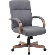 Boss Modern Executive Conference Chair - Linen - Gray