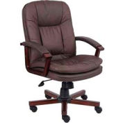 Versailles Cherry Wood Executive Chair Brown