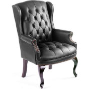Wingback Traditional Guest Chair - Black
