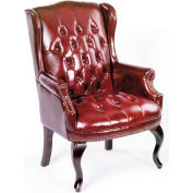Wingback Traditional Guest Chair - Burgundy