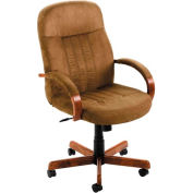 Microfiber High Back Executive Chair - Cappuccino