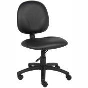 Boss Task Chair - Vinyl - Mid Back - Black