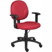 Diamond Task Chair with Adjustable Arms Burgundy