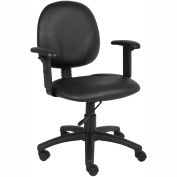Diamond Task Chair with Adjustable Arms Caressoft Black