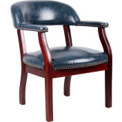 Boss Ivy League Executive Captain's Chair - Vinyl - Blue