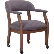 Boss Modern Captain's Chair with Casters - Linen - Slate