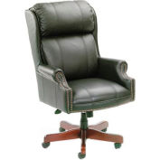 Traditional High Back CaressoftPlus Chair with Mahogany Base