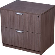 "Boss 2-Drawer Lateral File - 31""W x 22""D - Driftwood"