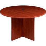 "Boss 47"" Round Conference Table, Cherry"