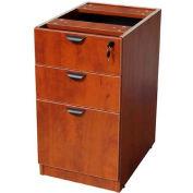 "Boss Deluxe Pedestal, Box/Box/File, 15-1/2""W x 22""D, Cherry"