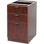 "Boss Deluxe Pedestal, Box/Box/File, 15-1/2""W x 22""D, Mahogany"