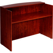 "Boss Reception Desk - 48""  - Mahogany"