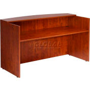 "Boss Reception Desk, 71""W x 30""D x 42""H, Cherry"