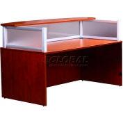 Boss Plexiglass Reception Desk, Cherry