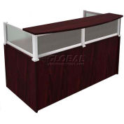 "Boss Reception Desk with Window - 71"" - Mahogany"