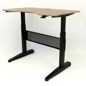 """Boss Height Adjustable Desk - 48""""W x 26.5""""D - Driftwood"""
