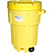 ENPAC® 1299-YE Wheeled Poly-Overpack™ Salvage Drum - 95 Gallon Capacity