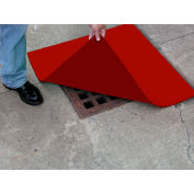 "ENPAC® Spill Protector Drain Cover, 36"" x 36"" x 1/4"", Red, 4336-SP"