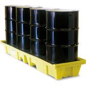 ENPAC® 5102-YE 4-Drum In-Line Poly-Spillpallet™ 3000 Lb. Capacity