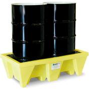 ENPAC® 5253-YE 2-Drum Poly-Spillpallet™ 58 Gallon Capacity