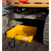 ENPAC® Folding Duck Pond Mini-Berm Containment, 2' x 2' x 1/2', 5622-YE-F