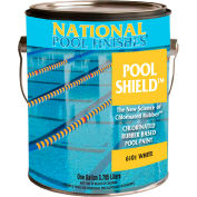 National Pool Shield™ Chlorinated Rubber Pool Paint, Sky Blue, Gallon, 1/Case - 6105-G
