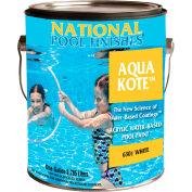 National Aqua Kote™ Acrylic Waterbase Pool Paint, White, Gallon, 1/Case - 6301-G