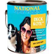 National Deck Kote™ Acrylic Waterbase Deck Paint, Birch Gray, Gallon, 1/Case - 6605-G