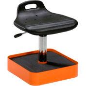 Milagon Tasq Standing Work Stool with Tool Caddy - Polyurethane - Black