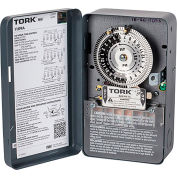 NSI TORK® 1109A 24 Hour Time Switch, 40A, 120-277V, DPST, NEMA 1 Metal Indoor Enclosure