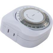 NSI TORK® 401A 24 Hr. Mechanical Timer, 125Vac, 15A, Polarized