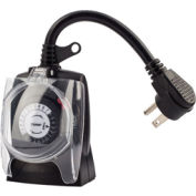 NSI TORK® 602B 24 Hour Plug-In Timer Two Grounded Outlets, 125V, Outdoor, 30 Minute Tabs