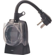 NSI 642E 7 Day Digital Outdoor Timer, 2 Outlets, 125Vac, 15A