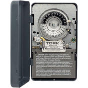NSI TORK® 7202 24 Hour Skip A Day Time Switch, 40A, 208-277V, DPST, Indoor Metal Enclosure