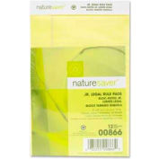 "Nature Saver® Recycled Jr. Legal Pads, 5"" x 8"", 15 lb, Canary, 50 Sheets/Pad, 12 Pads/Pack"