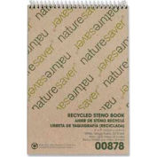 """Nature Saver® Recycled Steno Notebook, 6"""" x 9"""", Gregg Ruled, 60 Sheets/Pad"""