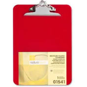 """Nature Saver® Recycled Plastic Clipboard, 9"""" x 12-1/2"""", Red"""